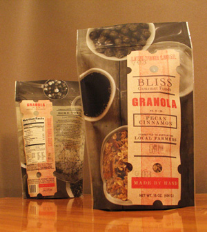 Bliss Gourmet Foods Granola Packaging