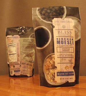 Bliss Gourmet Foods Muesli Packaging